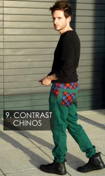 Contrast Chinos