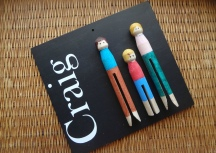 Craft Pegs Family Sign