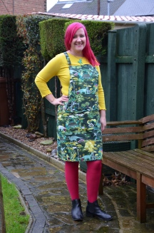 Dinosaur Dungaree Dress