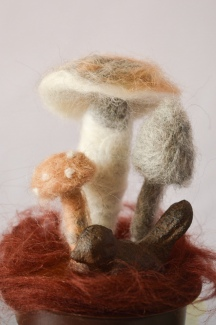 DIY Felted Mushrooms