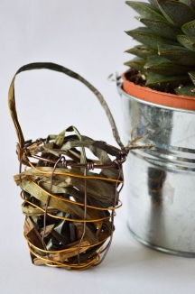 DIY Whimsical Wire Basket