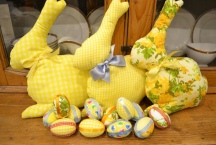 Easter Chick Garland and Easter Bunnies
