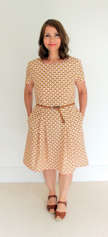 Emery Dress with Pleated Skirt