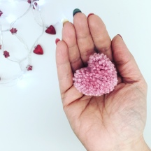 Floating Heart Pom-Pom Bunting