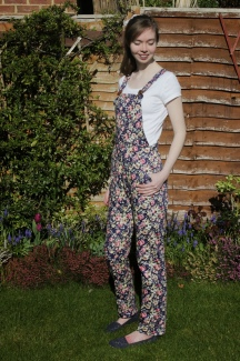 Floral Dungarees