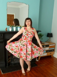Flora Dress in Floral Sateen