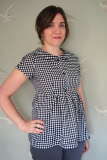 Gingham Babydoll Shirt Dress
