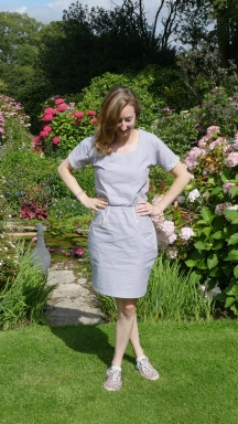 Grey Bettine Dress with Liberty Details