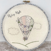 Hot Air Balloon Embroidery Sampler