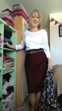 Italian Wool and Mohair Pencil Skirt