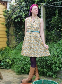 Kittens and Flowers dress