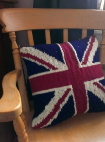 Knitted Union Jack Cushion