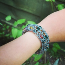 Learn to French Knit a Beaded Bracelet with Clover