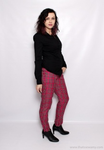 M6707 Plaid Pants