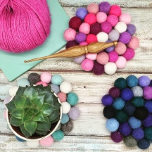 Make Your Own Felt Ball Coasters