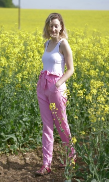 Marigold Pink Paper-Bag Trouser Hack