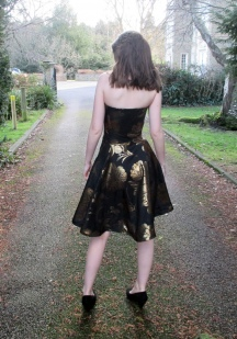 Metallic Brocade 21st Birthday Dress