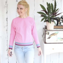 My Simple Pink Jersey Sweater