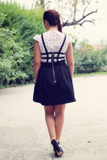 Pinafore and Blouse