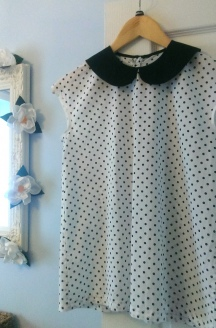 Polka Dot Peter Pan Collar Blouse