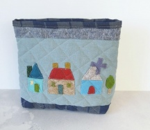 Quilted Village Pouch
