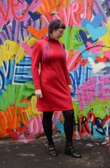 Roll Neck Jersey Dress