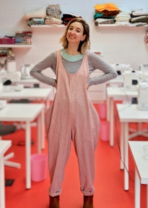 Self Draft Linen Jumpsuit