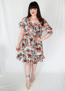 Simplicity 8608 Ruffle Wrap Dress