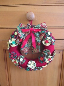 Suffolk Puff Christmas Wreath