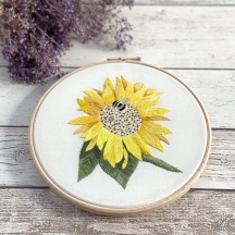 Sunflower Needle Painting