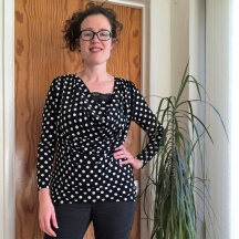 The Spotty Cowl Top