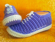 Van's Style Crocheted Slippers