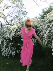 Vintage Rayon Crepe Pleated Dress