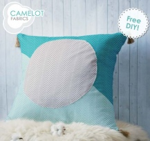 Mixology Herringbone Colour Block Pillow - Camelot Fabrics
