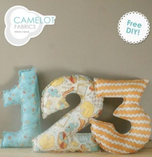 Playground Collection Number Pillows - Camelot Fabrics